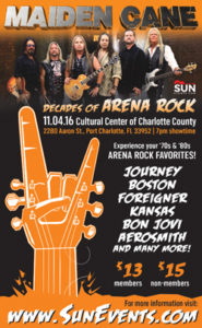 Decades of Arena Rock @ Cultural Center of Port Charlotte | Port Charlotte | Florida | United States