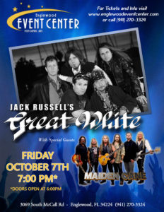 with Great White @ Englewood Event Center | Englewood | Florida | United States