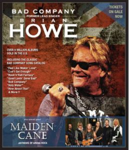 Opening for Brian Howe of Bad Company @ Peoria Riverfront Events/CEFCU Center Stage @ The Landing | Peoria | Illinois | United States